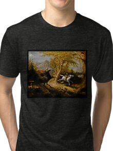 Headless Horseman Chasing Ichabod Crane Tri-blend T-Shirt
