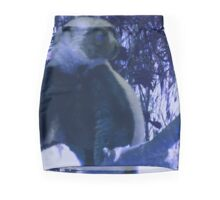 Sifaka in Blue Mini Skirt