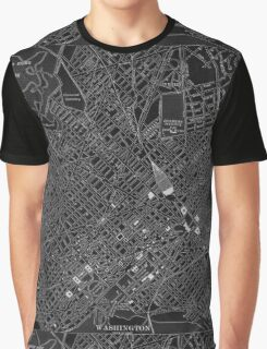 Map of Washington, D.C., 1908 (Night) Graphic T-Shirt
