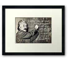Einstein The Music Lover Framed Print