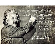 Einstein The Music Lover Photographic Print