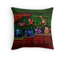 Megaman Woodman Throw Pillow