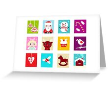 Advent Calendar. Christmas Time. Various cartoon christmas icons and elements. Greeting Card