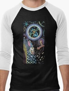 White rabbit trapped in time machine Men's Baseball ¾ T-Shirt