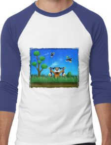 Duck Hunt! Men's Baseball ¾ T-Shirt