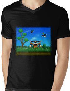 Duck Hunt! Mens V-Neck T-Shirt
