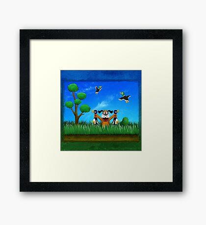 Duck Hunt! Framed Print