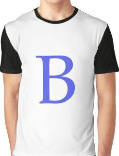 B Alphabet Letter Graphic T-Shirt