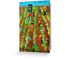 Working Fields Greeting Card