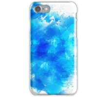 Abstract blue watercolor background iPhone Case/Skin