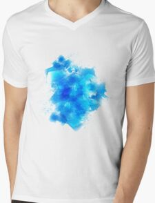 Abstract blue watercolor background Mens V-Neck T-Shirt