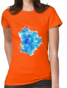 Abstract blue watercolor background Womens Fitted T-Shirt