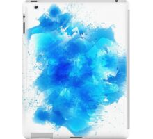 Abstract blue watercolor background iPad Case/Skin
