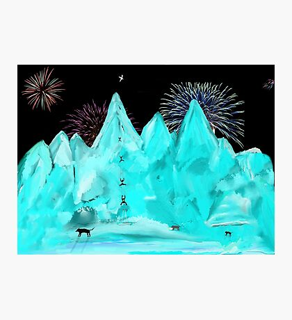Scaling Ice Mountain Photographic Print