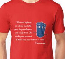 Dostoyevsky Knew Him? (white text) Unisex T-Shirt