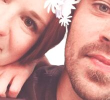 JESSE AND SARAH (JAPRIL) - FLOWER CROWN STICKER Sticker