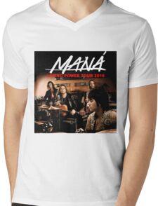 tshirt music poster mana latino power tour 2016 Mens V-Neck T-Shirt