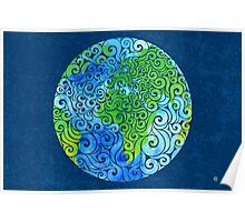 Swirly Earth Poster