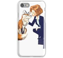 trust of a fox - x files iPhone Case/Skin