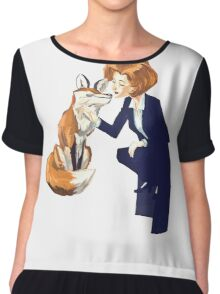 trust of a fox - x files Chiffon Top