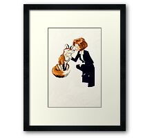trust of a fox - x files Framed Print