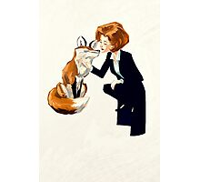 trust of a fox - x files Photographic Print