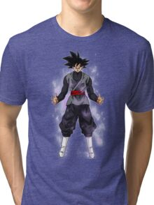 Goku Black Powering up Tri-blend T-Shirt