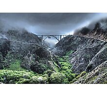 Bixby Bridge Through the Fog and Dale Photographic Print