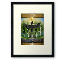 Touch the Sky Cover Framed Print