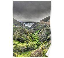 Bixby Bridge Through the Fog and Dale Portrait  Poster
