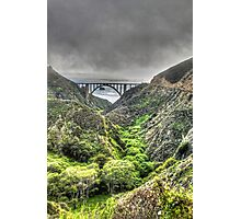 Bixby Bridge Through the Fog and Dale Portrait  Photographic Print