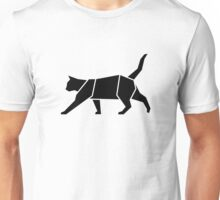 Black Geometric Cat Unisex T-Shirt