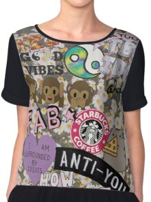 The Cool Kids Phonecase Chiffon Top