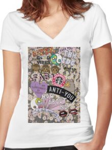 The Cool Kids Phonecase Women's Fitted V-Neck T-Shirt
