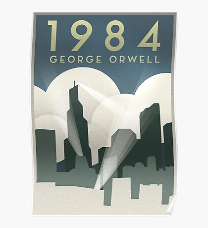 George Orwell - 1984, Art Deco Poster Poster