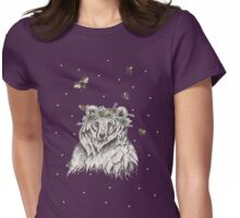 The Bear and the Bees at Midnight Womens Fitted T-Shirt
