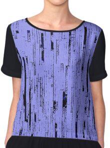 Line Art - The Bricks, black and purple Chiffon Top