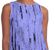 Line Art - The Bricks, black and purple Contrast Tank