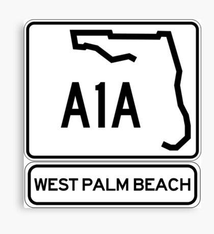 A1A - West Palm Beach Canvas Print