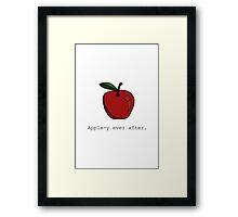 Apple-y Ever After. Framed Print