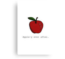 Apple-y Ever After. Canvas Print