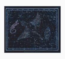 Alexander Jamieson A Celestial Atlas 1822 Plate 11 Astronomy Constellations Inverted One Piece - Short Sleeve