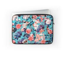 Pinup and Floral Pattern Laptop Sleeve
