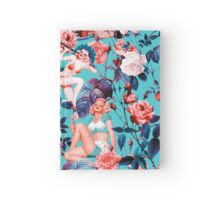 Pinup and Floral Pattern Hardcover Journal