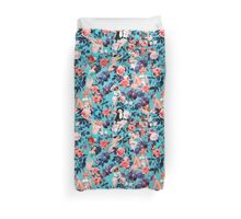 Pinup and Floral Pattern Duvet Cover