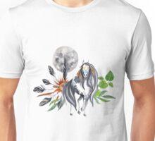 Moon indian horse Unisex T-Shirt