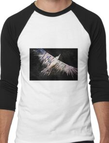 Corvid Lino Cut Print Men's Baseball ¾ T-Shirt