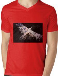 Corvid Lino Cut Print Mens V-Neck T-Shirt