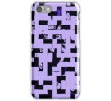 Line Art - The Bricks, tetris style, purple and black iPhone Case/Skin
