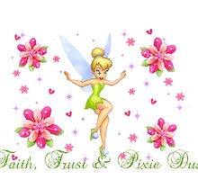 Faith, Trust and Pixie Dust Tinkerbell T-Shirt and Tote by lmcarlos